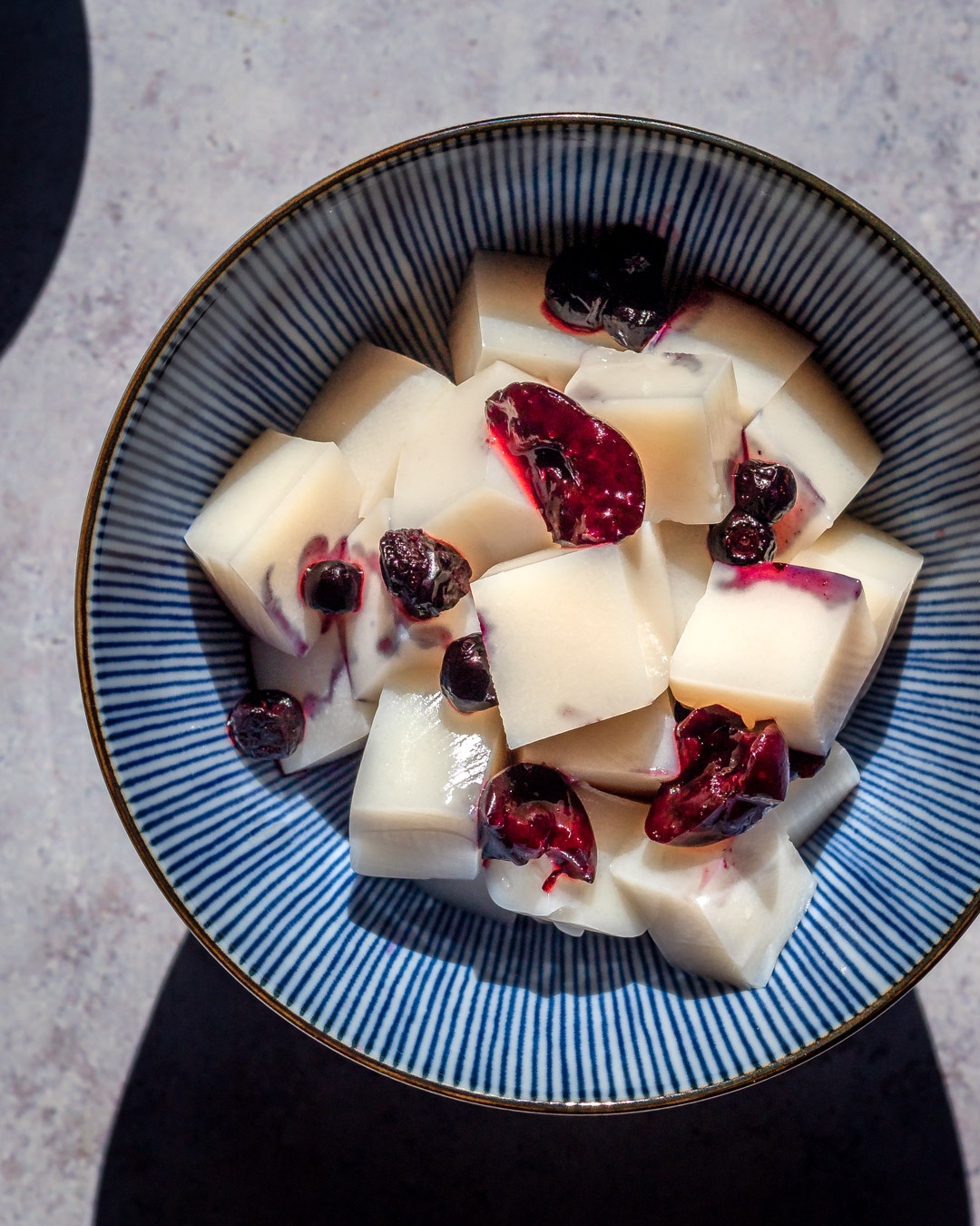Tofu d'amande chinois (dessert d'été)