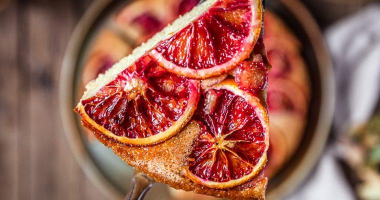Gâteau renversé Orange Sanguine & Polenta