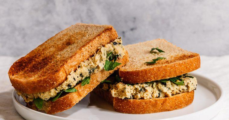 Sandwich aux pois chiche de la mer