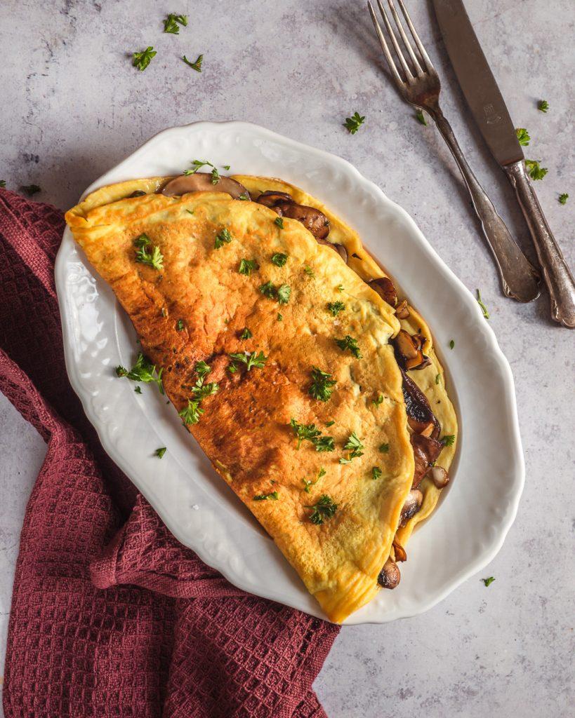 Omelette vegan champignons