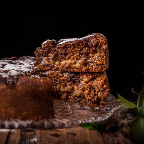 apple cake creamy vegan