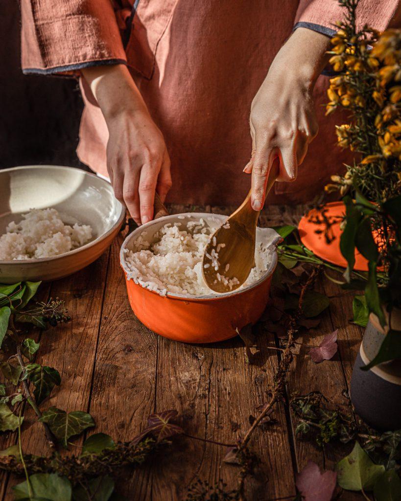 fluffage du riz