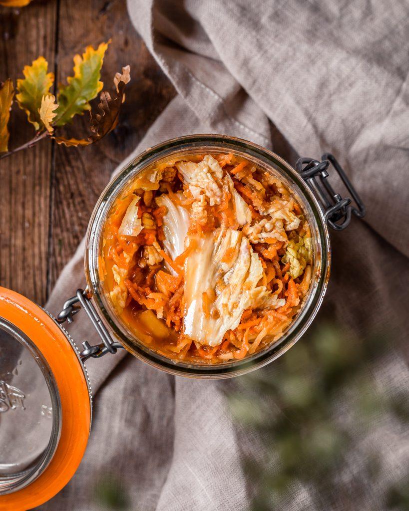 kimchi vegan gingembre