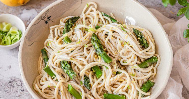 Spaghetti aux asperges vertes et citron