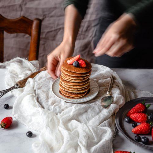 pancakes sans gluten ni matière grasse