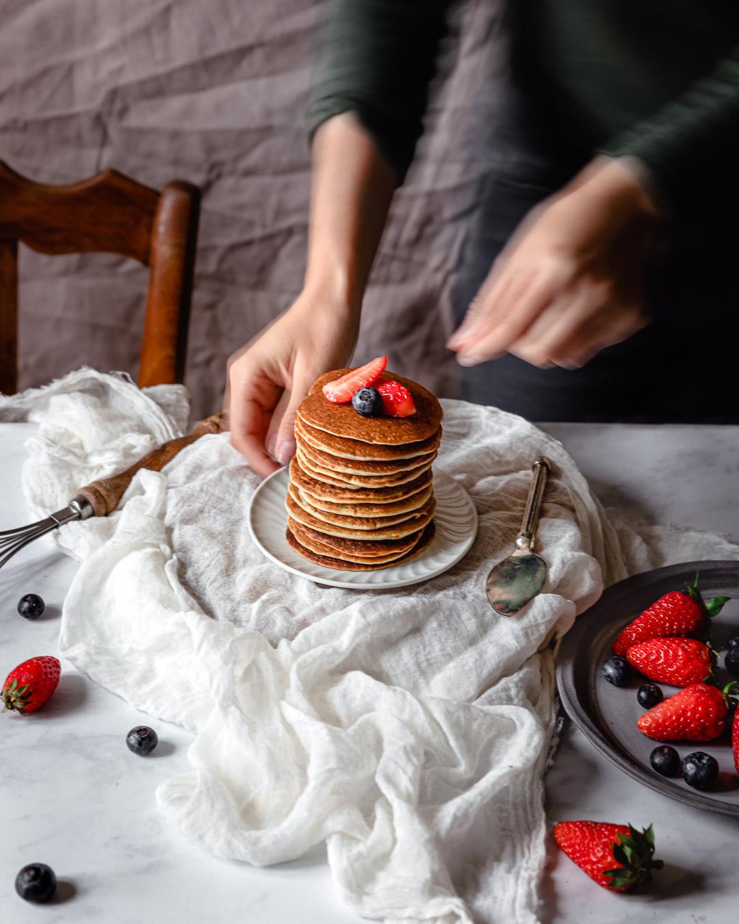 Pancakes sans gluten & sans matière grasse