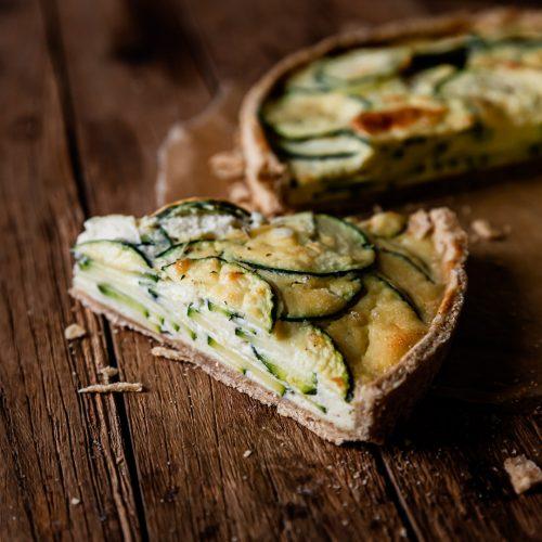 tarte à la courgette simple vegan