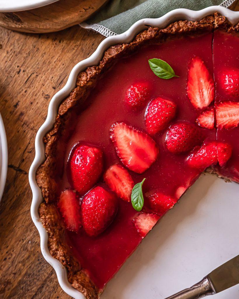 tarte jelly aux fraises vegan