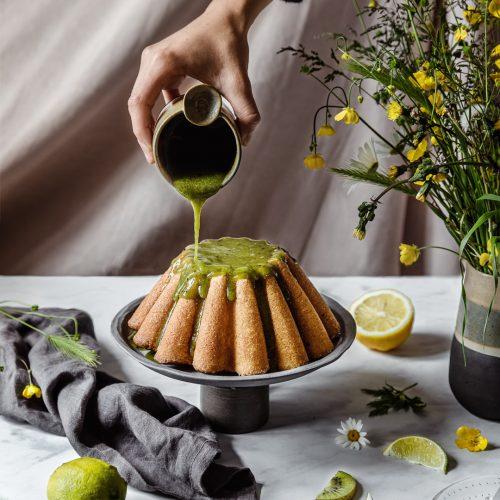 gateau kiwi citron et citron vert sans gluten