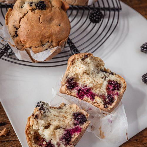 muffins vegan aux mures