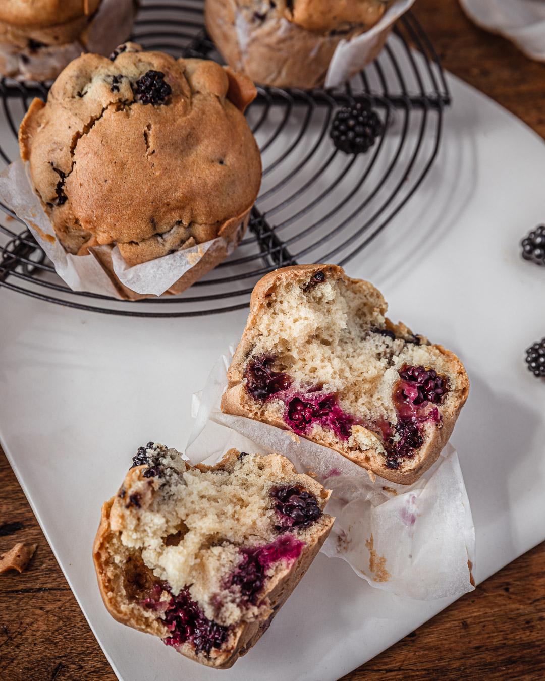 Muffins vegan aux mûres