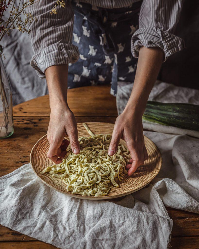 pâtes fraiches à la courgette