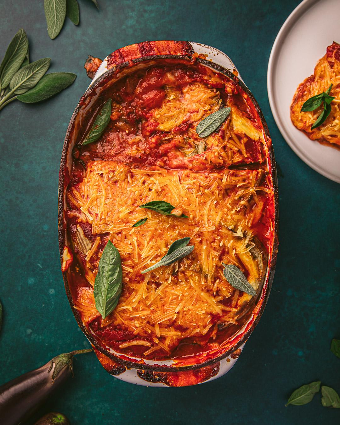 Parmigiana d'aubergines vegan