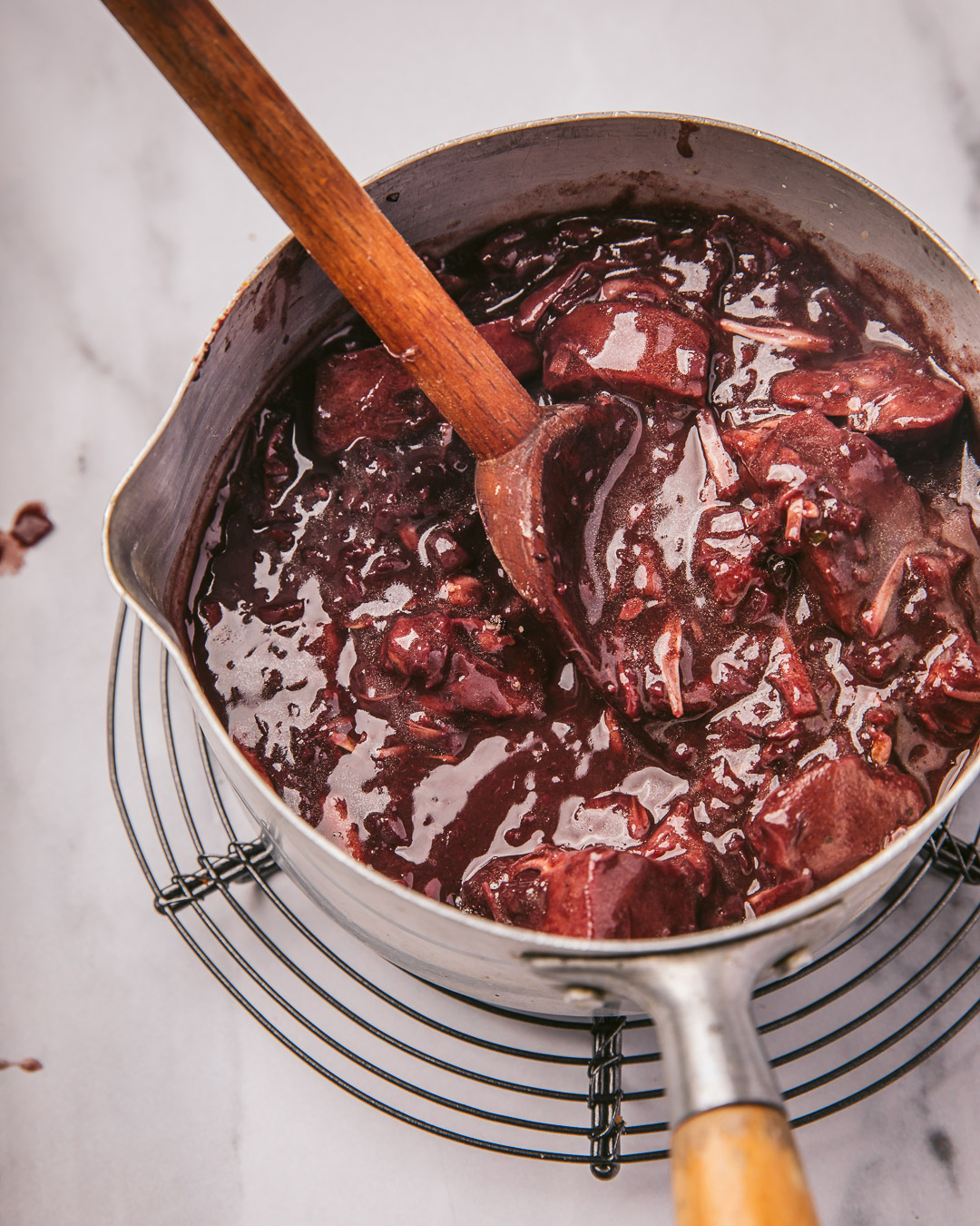 Sauce échalote – vin rouge