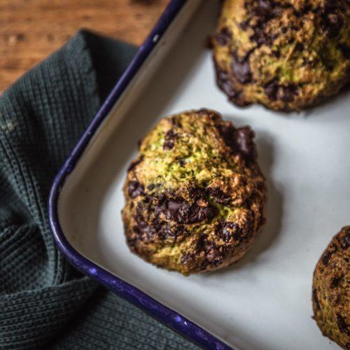 recette vegan cookies chocolat courgette