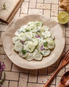 raita de concombre - recette vegan