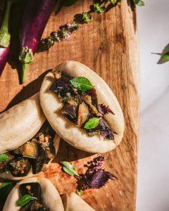 Gua Bao aux aubergines - recette vegan asiatique