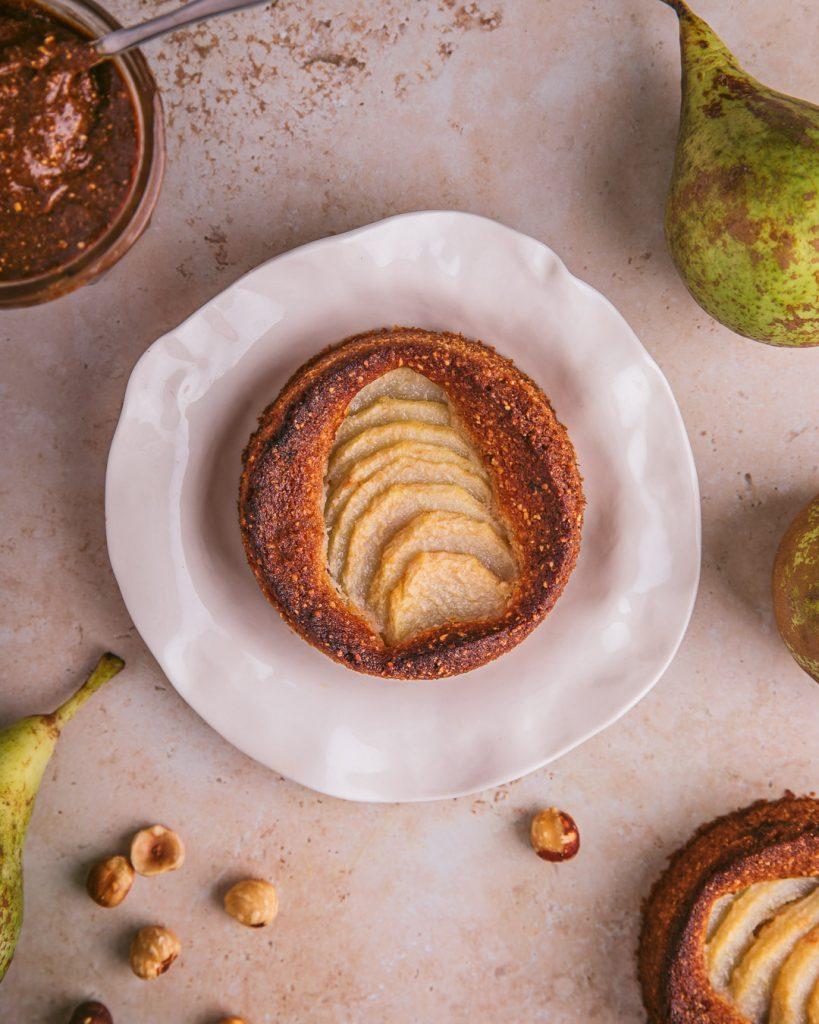 gâteau poire noisettes - recette simple vegan sans gluten