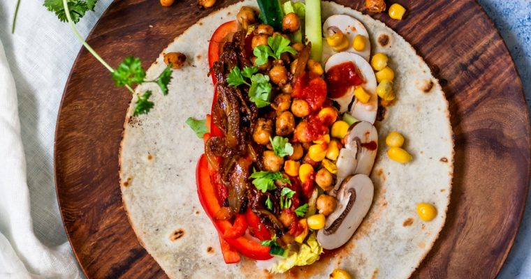 Mexican-style Chickpea Wrap