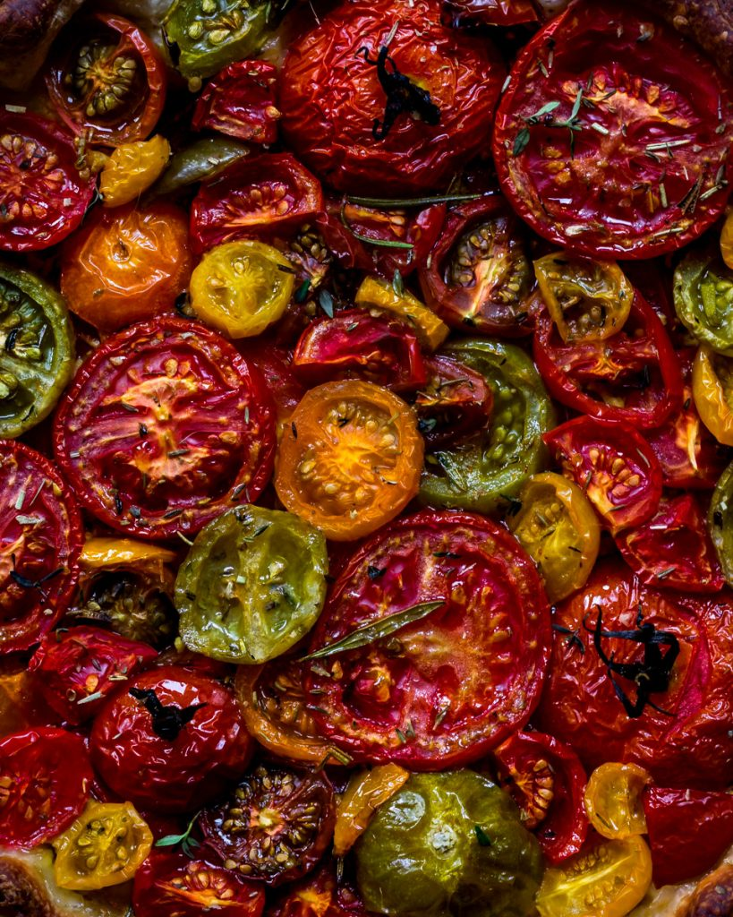 Tomato tart - close up