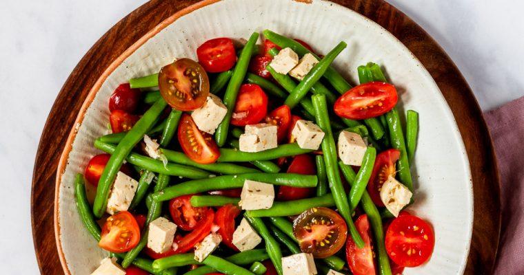 Green Bean & Tomato Salad with homemade Feta