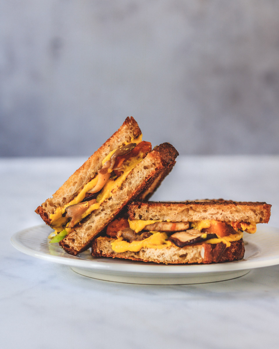 Garnished Grilled cheese