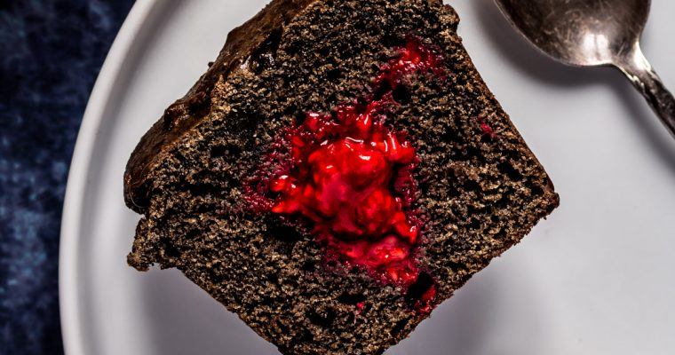 Black Sesame & Raspberry Muffins