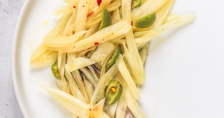 Marinated Fennel with green Olives