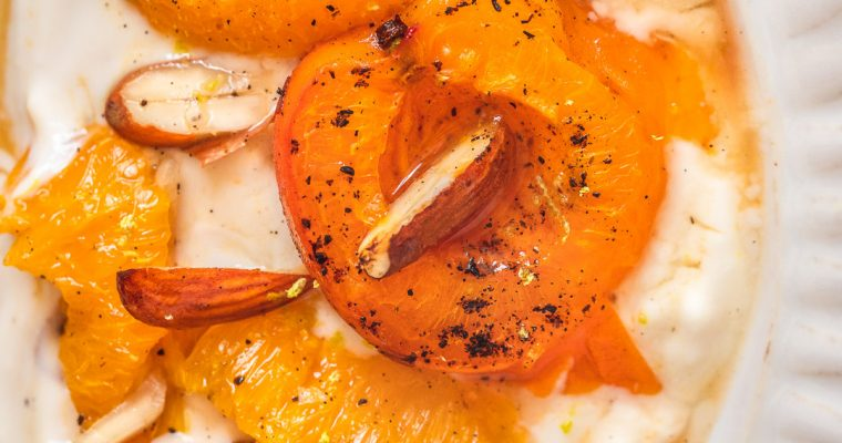 Orange Roasted Apricots