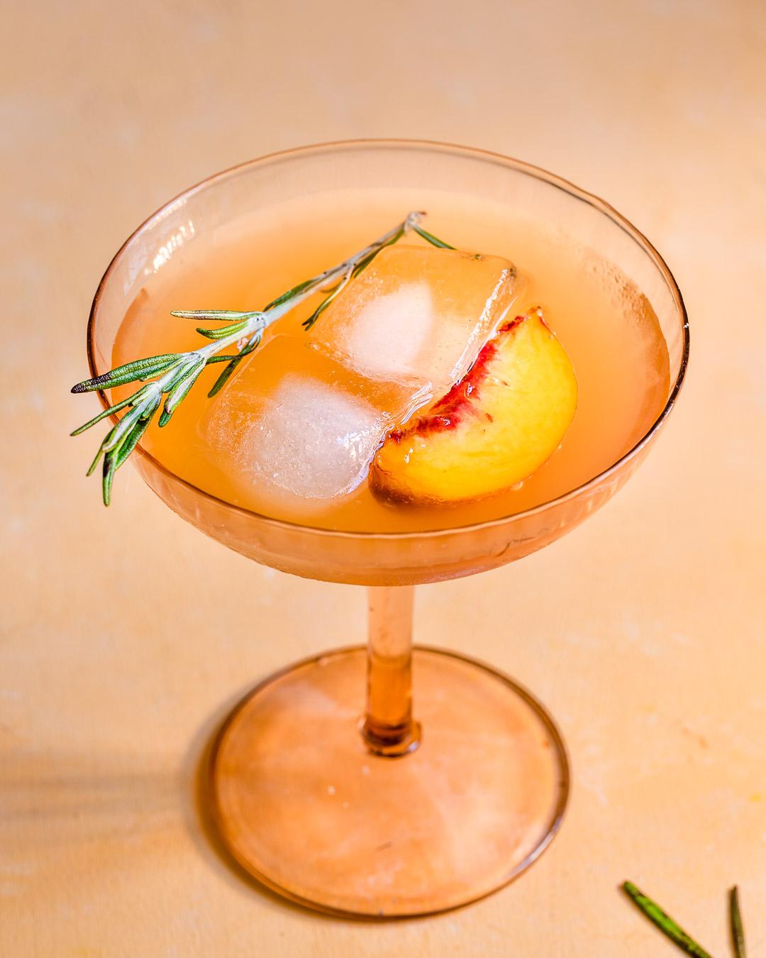 Peach, Ginger & Rosemary Lemonade