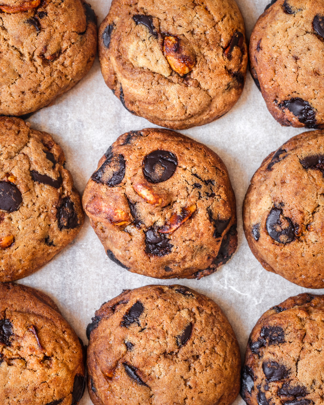 a large batch of these peanuts and chocolate chips cookies