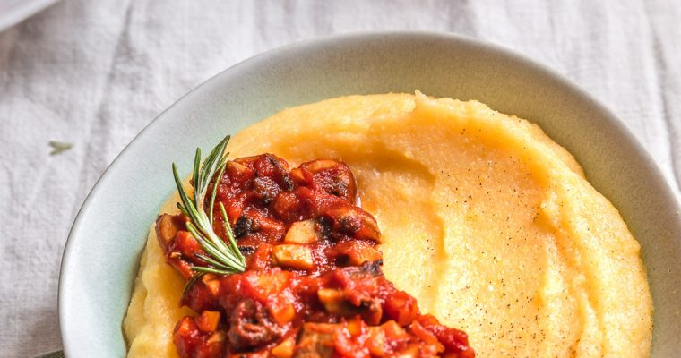 Creamy Polenta & Mushroom sauce