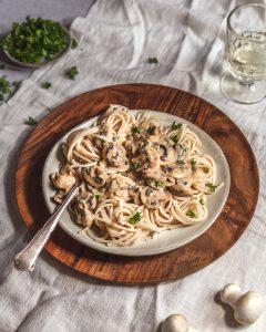 mushroom miso pasta vegan