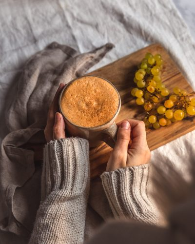 Roasted sweet potato latte